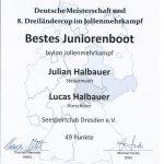 Bestes Juniorenboot_DM_JMK_XY_2019
